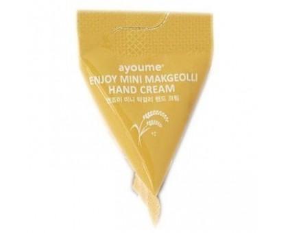 AYOUME Крем для рук макколли - Enjoy Mini Makgeolli Hand Cream, 3гр