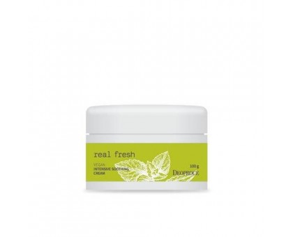 Крем для лица успокаивающий Deoproce Real Fresh Vegan Intensive Soothing Cream 100 мл