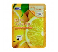 Тканевая маска для лица с экстрактом лимона 3 w clinic  Fresh Lemon Mask Sheet, 27 gr