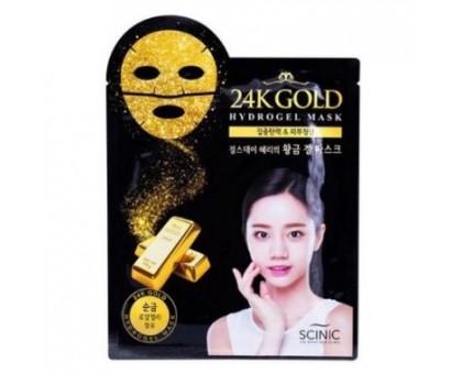 Гидрогелевая маска для лица с 24К золотом Scinic 24K Gold Hydrogel Mask