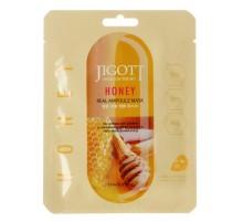 Ампульная маска с экстрактом меда Jigott Honey Real Ampoule Mask