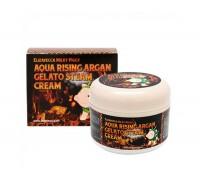 Питательный крем для лица с аргановым маслом Elizavecca Aqua Rising Argan Gelato Steam Cream, 100 гр