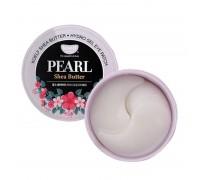 Гидро-гелевые патчи для глаз с маслом ши и жемчугом Petitfee Koelf Pearl & Shea Butter Eye Patch 60 штук в упаковке (30 пар)