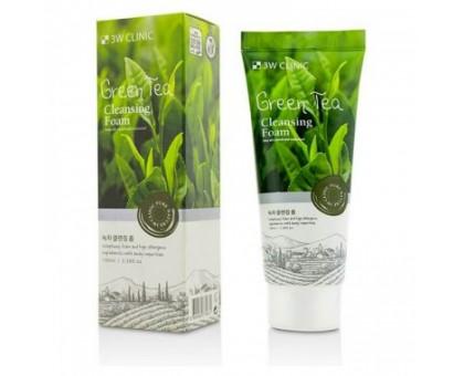 Пенка для умывания зеленым чаем 3W Clinic Green Tea Foam Cleansing 100 мл