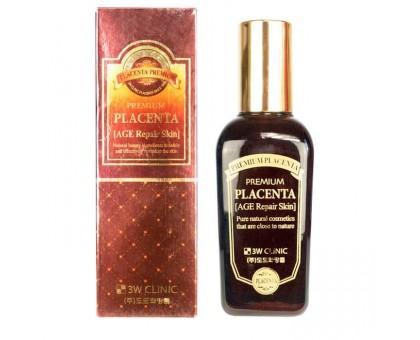 Тонер с плацентой для глубокого увлажнения кожи лица 3W Clinic Premium Placenta Intensive Skin, 145 ml